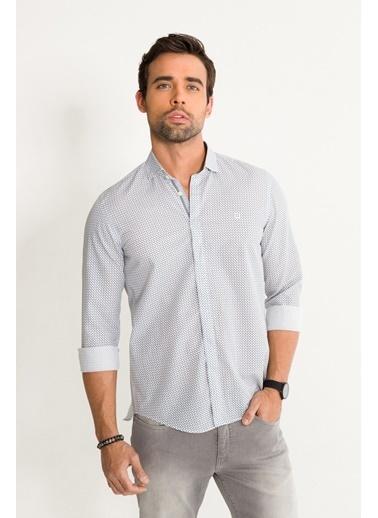 Avva Erkek  Baskılı İtalyan Yaka Slim Gömlek A01Y2050 Gri